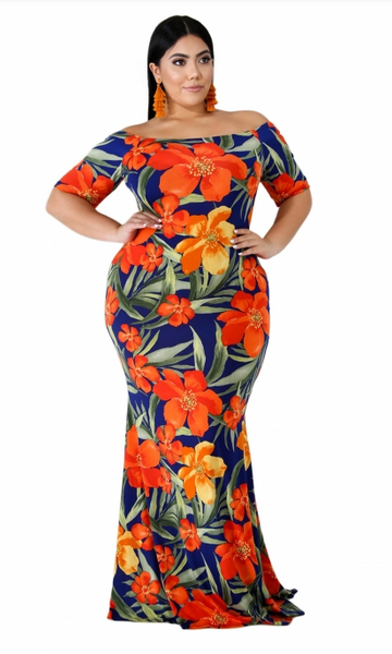 California Mermaid Plus Size Dress