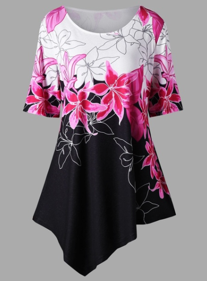 Women Ladies  Floral Print Tops(S-5XL)