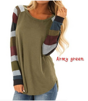 Women  Casual Blouse Striped  Tops Plus