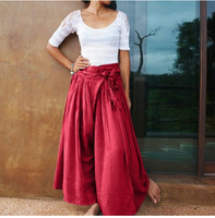 Women  Casual Palazzo Maxi Long Pant Loose Pants Skirt