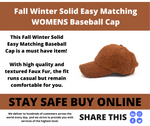 Fall Winter Solid Easy Matching Baseball Cap