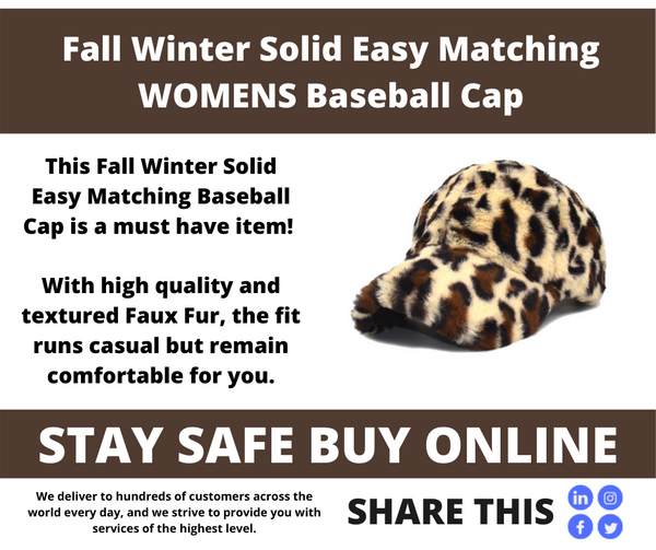 Leopard Fashion Plush Baseball Cap