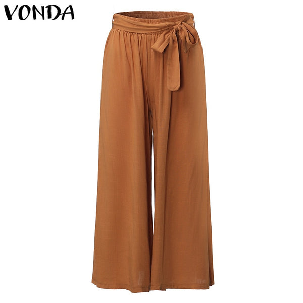 Womens Wide Leg Casual Loose  Trousers