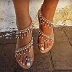 Women pearl sandals flip flops