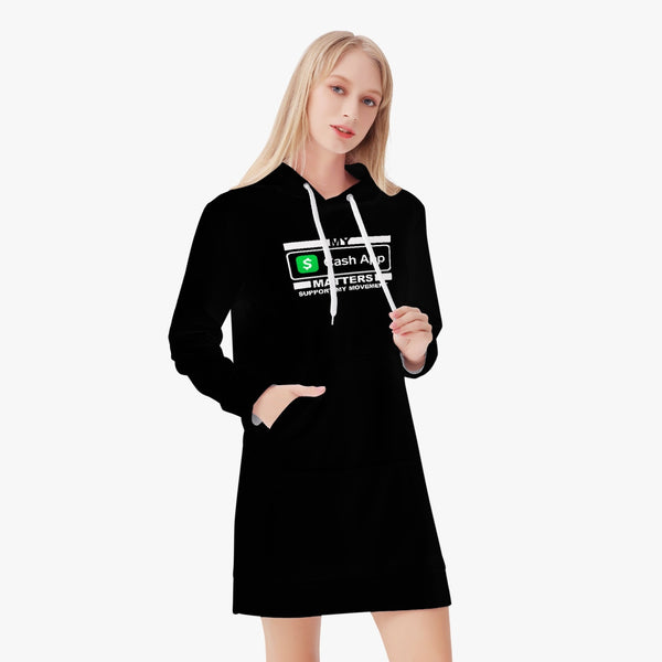 MY CASH APP MATTERS Women's Hoodie Dress