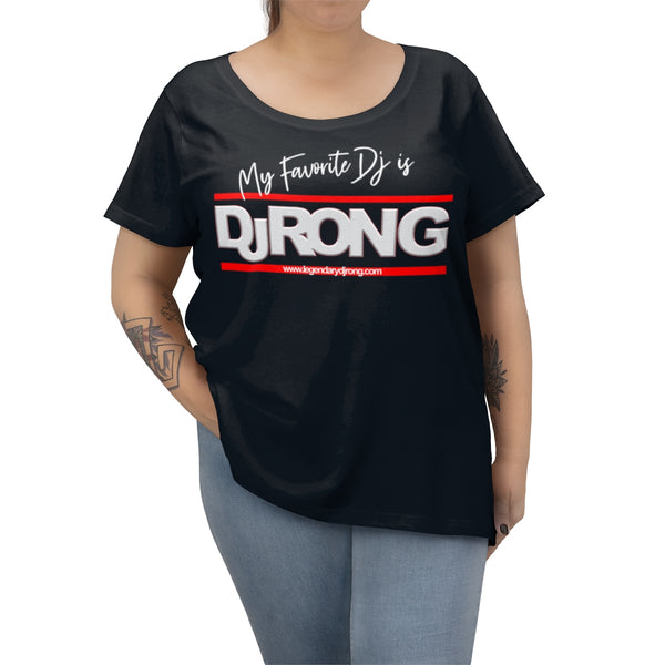 My Favorite Dj is DJ RON G (Women's Curvy Tee)