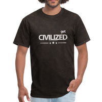 GET CIVILIZED T-Shirt - mineral black