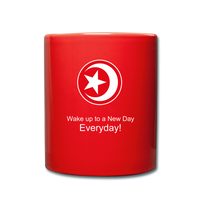 The Man The Message The Music  Color Mug - red