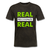 REAL RECOGNIZE REAL T-Shirt - mineral black