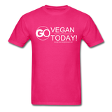 GO Vegan Today T-Shirt - fuchsia