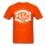 PEACE IS LIFE T-Shirt - orange