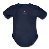 The Man The Message The Music  Short Sleeve Baby Bodysuit - dark navy