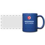 MUHAMMAD'S KITCHEN Full Color Panoramic Mug - royal blue
