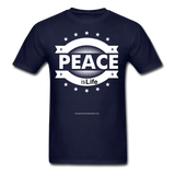 PEACE IS LIFE T-Shirt - navy