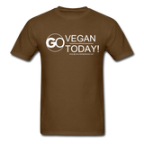 GO Vegan Today T-Shirt - brown