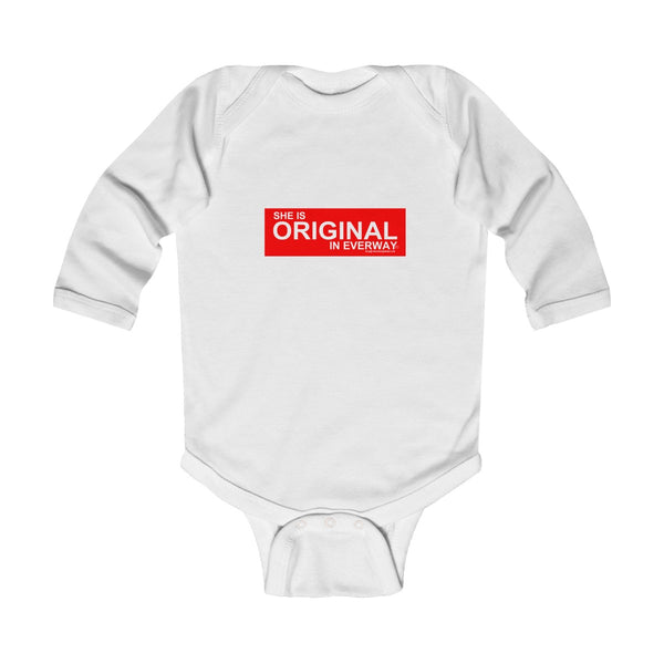 SHE IS ORIGINAL Infant Long Sleeve Bodysuit