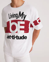 Living My BE attitude Men's Premium Heavyweight Tee