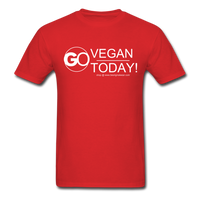 GO Vegan Today T-Shirt - red