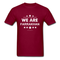 WE ARE FARRAKHAN T-Shirt - burgundy