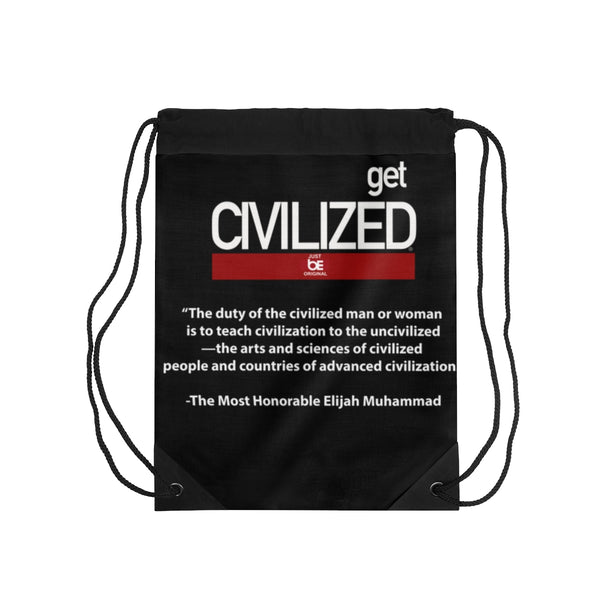 Get Civilized Drawstring Bag