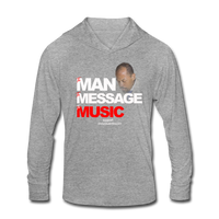 The Man The Message The Music Unisex Tri-Blend Hoodie Shirt - heather gray