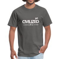 GET CIVILIZED T-Shirt - charcoal