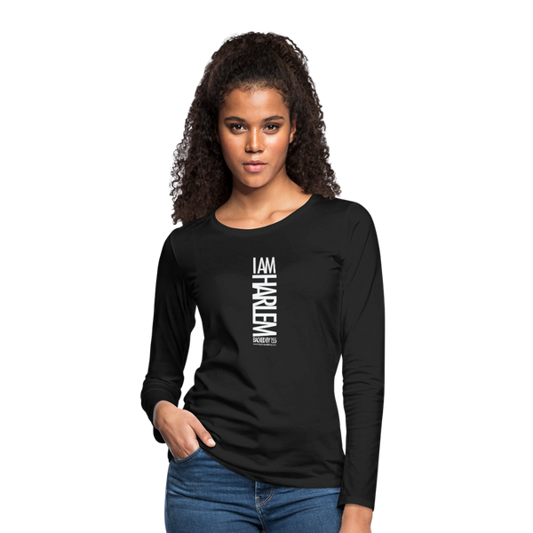 I AM HARLEM Women's Premium Long Sleeve T-Shirt - black