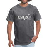 GET CIVILIZED T-Shirt - mineral charcoal gray