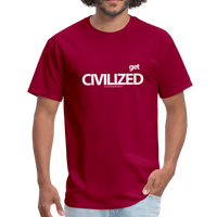 GET CIVILIZED T-Shirt - dark red
