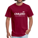 GET CIVILIZED T-Shirt - burgundy