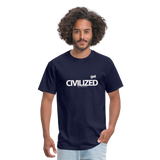 GET CIVILIZED T-Shirt - navy
