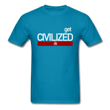 Get CIVILIZED T-Shirt - turquoise