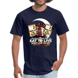 EAT TO LIVE T-Shirt - navy