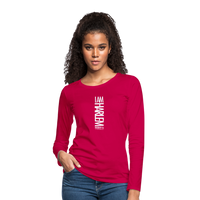 I AM HARLEM Women's Premium Long Sleeve T-Shirt - dark pink