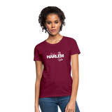 BACKED BY 155 HARLEM WEAR WOMENS  T-Shirt - burgundy