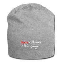 Born to Deliver The Message Beanie - heather gray