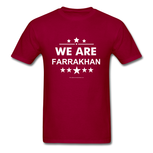 WE ARE FARRAKHAN T-Shirt - dark red