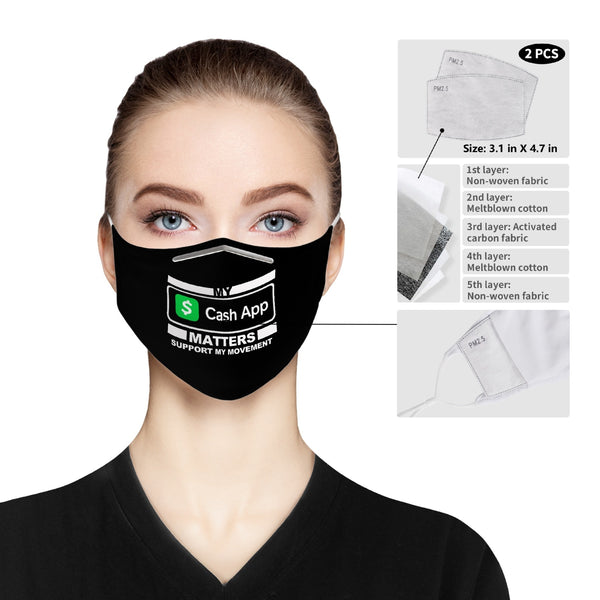 MY CASH APP MATTERS Cloth Face Mask For Adults