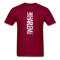 I AM HARLEM  T-Shirt - burgundy