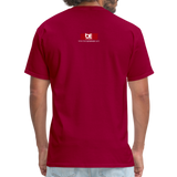 BACK BY 155 Dj Ron G T Shirt - dark red