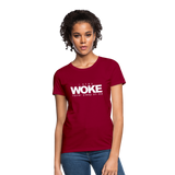 I Stay Woke Women's T-Shirt - dark red