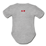 The Man The Message The Music  Short Sleeve Baby Bodysuit - heather gray