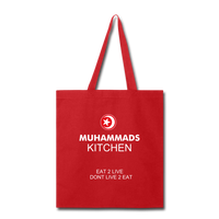MUHAMMAD'S KITCHEN Tote Bag - red