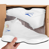 Salaams High-Top Leather Basketball Sneakers - White