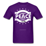 PEACE IS LIFE T-Shirt - purple