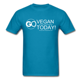 GO Vegan Today T-Shirt - turquoise