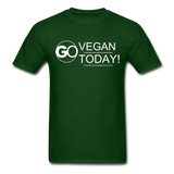 GO Vegan Today T-Shirt - forest green