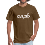 GET CIVILIZED T-Shirt - brown