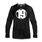 19 THERE'S POWER THAT NUMBER Premium Long Sleeve T-Shirt - charcoal gray
