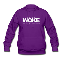 I Stay Woke womens Hoodie - purple